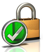 image of a padlock a for secure checkout