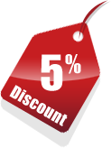 5 percent discount for repeat customers