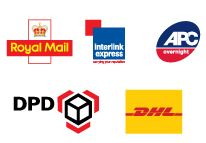logos of UK courier companies